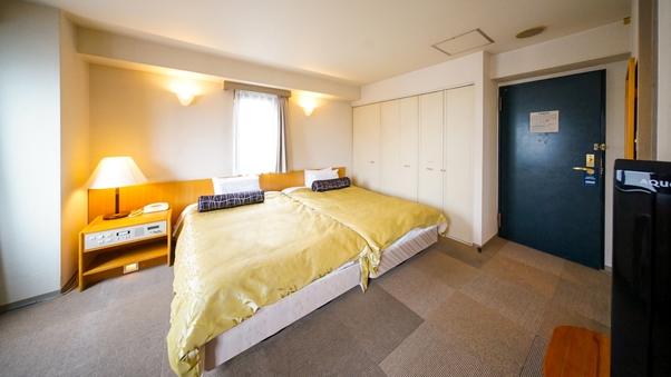 【ベッド2台】ツインルームご家族にピッタリ●広々23平米