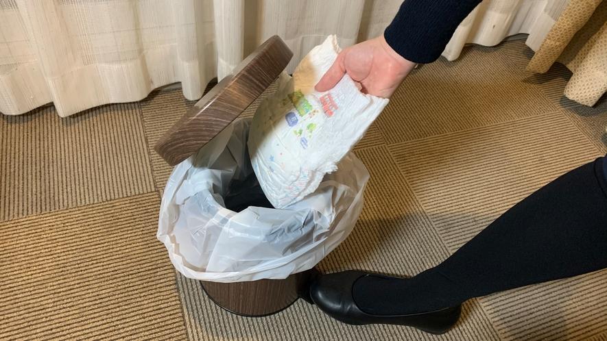 【お子様用無料貸出備品】オムツ 用ゴミ箱