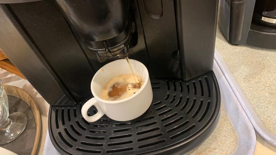〓挽きたてエスプレッソ〓ボタン一つで挽きたてコーヒー♪