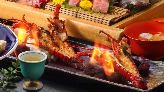 【スタンダード】「海老の鬼殻焼き」「金目鯛の姿煮」「お刺身5点の源泉噴湯盛り」をご用意 〜美食膳〜