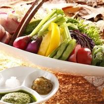【秋御膳】料理一例 有機野菜
