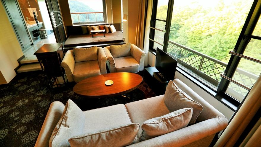 広々ソファースペースで贅沢な時間をお過ごしください(スペシャルスイート)