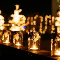◆【キャンドルイルミネーション】約5000個のキャンドルがロマンティックなクリスマスを演出