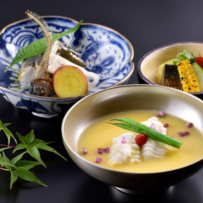京の夏の旬の食材を使ったお料理の数々
