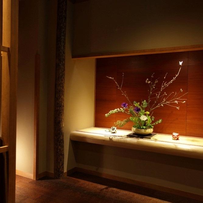 玄関の生け花