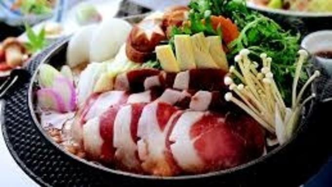 【通年 しし鍋プラン☆一泊二食付き】売木産いのしし 本格的ジビエ料理と天然温泉を堪能するプラン