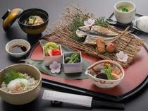 【朝食】地元素材を使った日本風の朝食