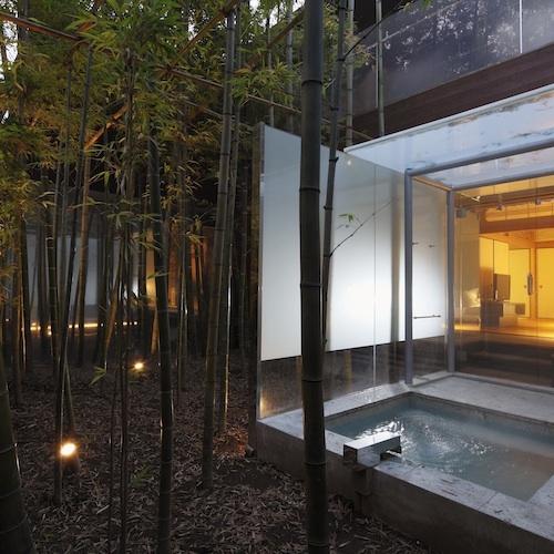 【すずらん&はまなす】竹取物語を思い浮かべる竹林露天風呂