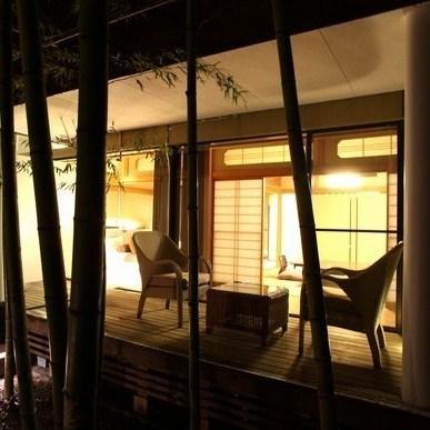 【すずらん&はまなす】ライトアップされた竹林はまさに幻想的