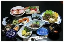 お刺身・揚物・酢物 ・ 焼魚or煮魚・吸物・香物など