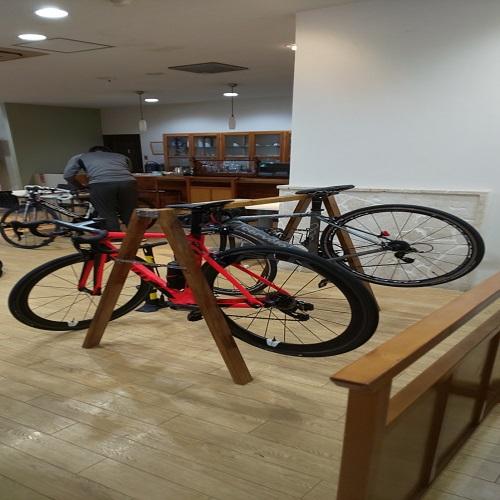 館内ロードバイク駐輪場 奄美市では初