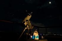 【展望】百名伽藍の星空と望遠鏡(貸出可)