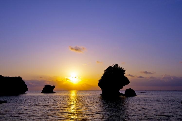 新原ビーチの日の出