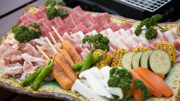 【香寺荘☆BBQプラン】\準備は不要!/焼いて、食べて♪手軽に楽しめるテラスでバーベキュー♪♪