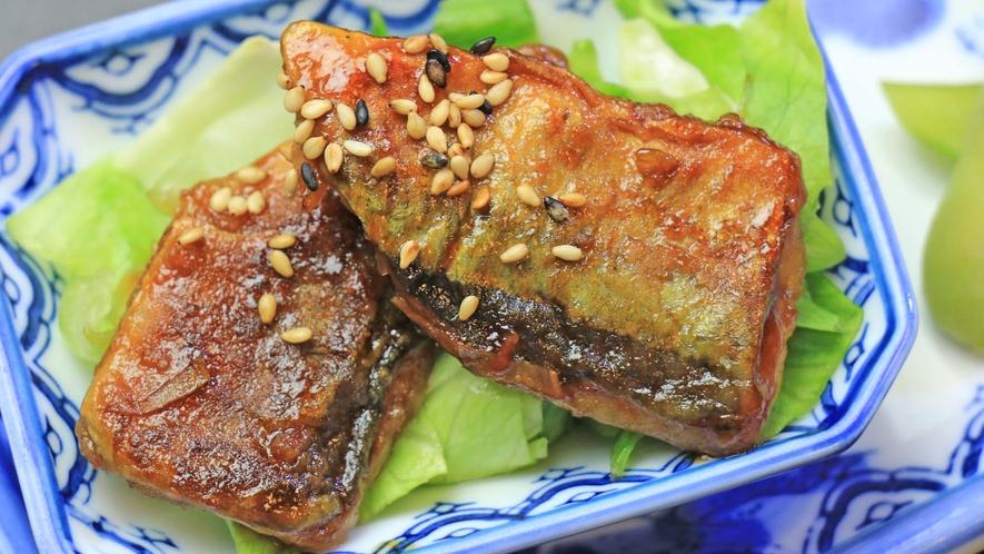 <夕食 魚のかば焼き>