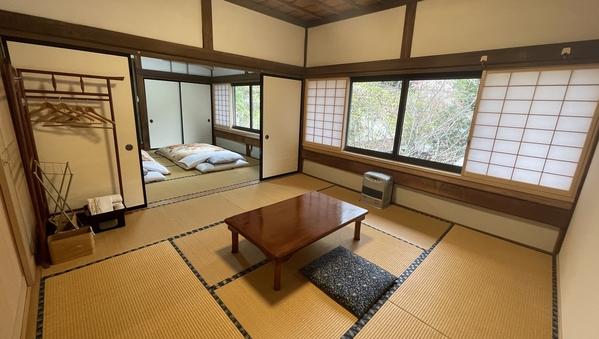 【和室2間】気持ちのいい宿坊の朝を迎える和室−16畳