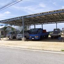 台風時に倒壊した箇所を更地にして屋根付き駐車場完成しました♪