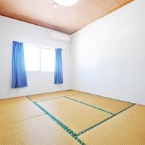 【和室6畳(基本)】全室禁煙、当宿基本ルームです。テレビ・冷暖房設置、お風呂・トイレは共同です。