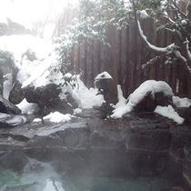 雪の露店風呂