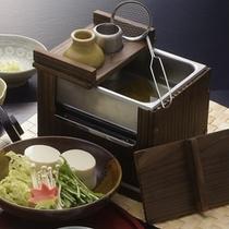 湯豆腐でぽかぽか