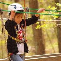【フォレストアドベンチャー】子供も楽しめるコースがあります。