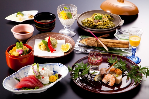 オーナーシェフの京会席フルコースをお部屋で☆2食付プラン