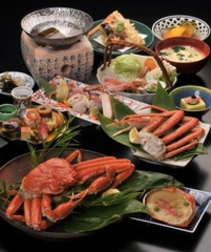松葉蟹コースの例