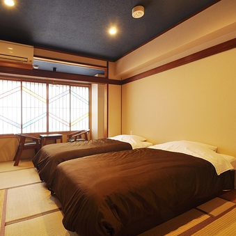 【禁煙】ベッドのある和室8畳〜Fuji〜ヒノキの内湯付