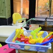 貸切風呂のおもちゃ