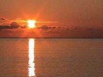 夕日ヶ浦の秋の夕日