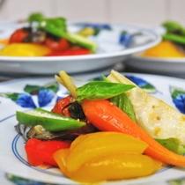 きれいな彩りのお料理