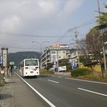 【交通】高速バス 鉄輪口バス停…徒歩10分