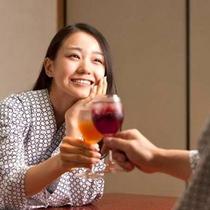 ◆プラン特典①◆夕食後に乾杯♪4種の手作り果実酒(例)