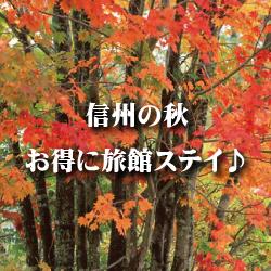 信州の秋、お得に旅館ステイ。