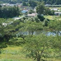 *【景観】目の前に広がる、清流 白石川と四季の風景を堪能。