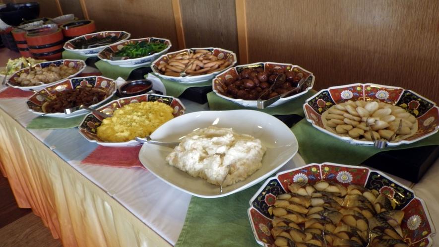 *【朝食例】体に優しい和食中心のバイキング。