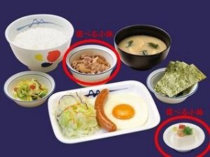 松屋ソーセージエッグ定食