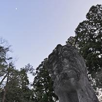 *岩木山神社/杉木立に囲まれた長い参道に、国の重要文化財に指定された建造物が建つ。