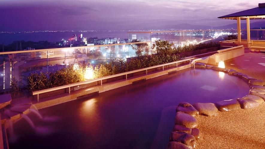 ■びわ湖を一望!11階の露天「月心の湯」□■