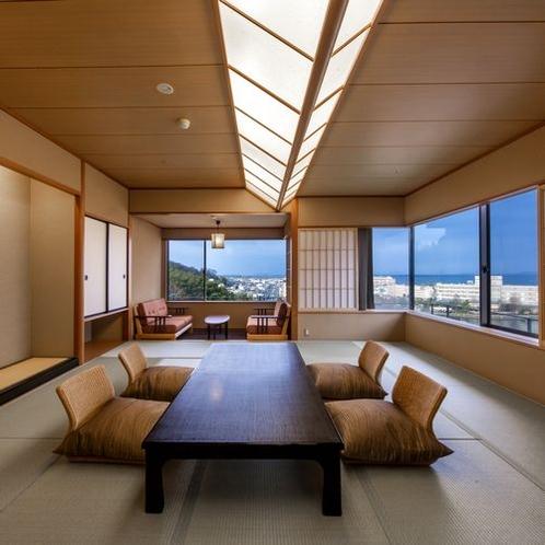 ■□温泉檜内風呂付月心亭高層階客室□■