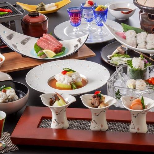 ■□〓6月~8月限定〓~夏の味覚「鱧」とブランド肉の美味を味わう鱧&近江牛会席~□■