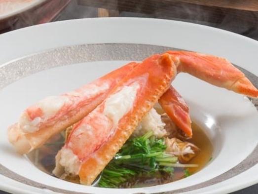 NEW【冬季限定】認証近江牛ステーキ&〜冬の味覚〜蟹しゃぶ付きプラン(一泊二食付)
