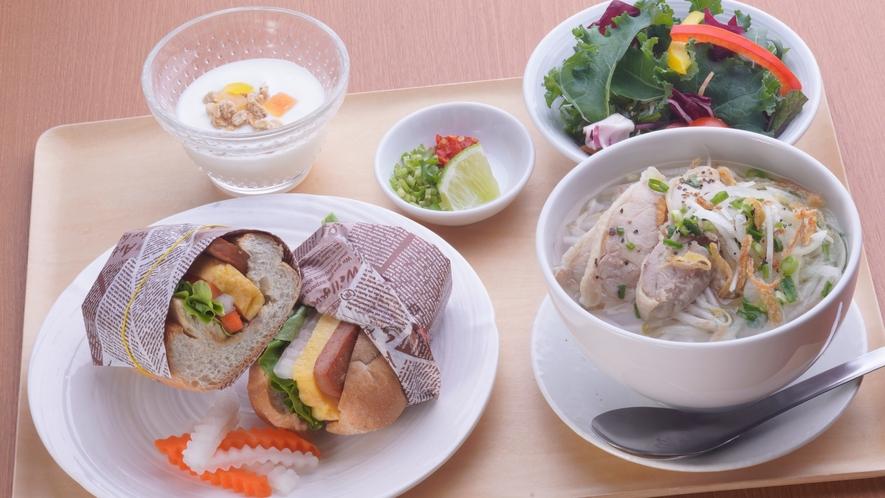 【朝食】ゴン・カフェ エスニック朝食セット