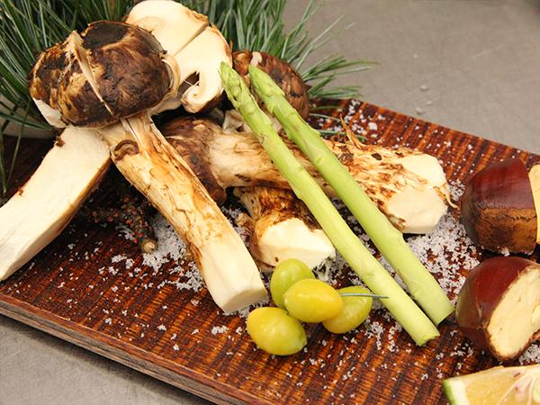 秋の松茸料理
