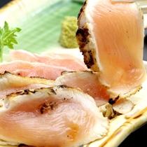 【夕食】大分産名物鶏刺し盛り
