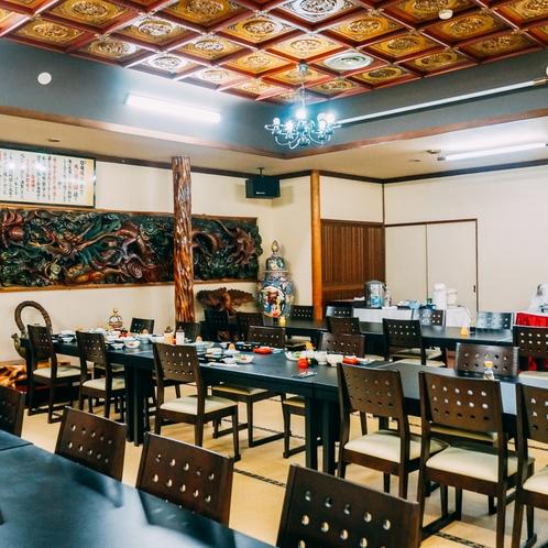 食事会場。団体様には大広間もご用意しております。
