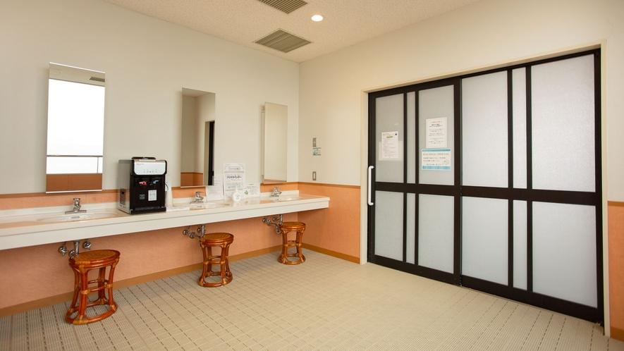 *【脱衣所】大浴場は男女入替制となります。