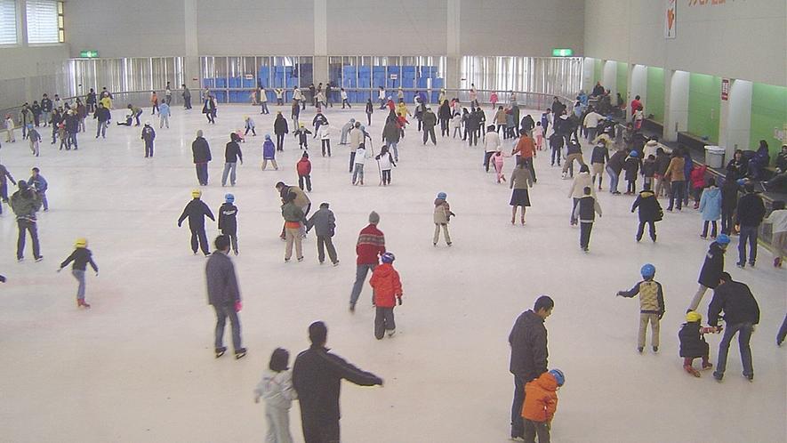 *一年中楽しめる通年営業のスケートリンク