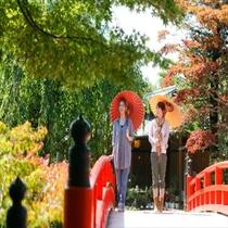 ■日本庭園由志園