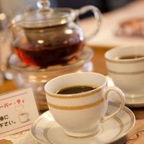 【湯上り喫茶】無料のコーヒーなどでティータイムをお楽しみください